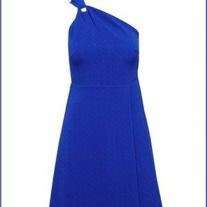 Banana Republic Blue Violet One Shoulder Dress